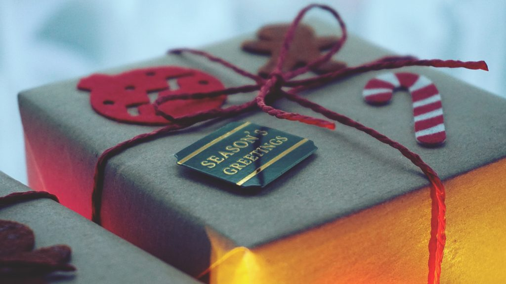 wrapped gift - celebrate success