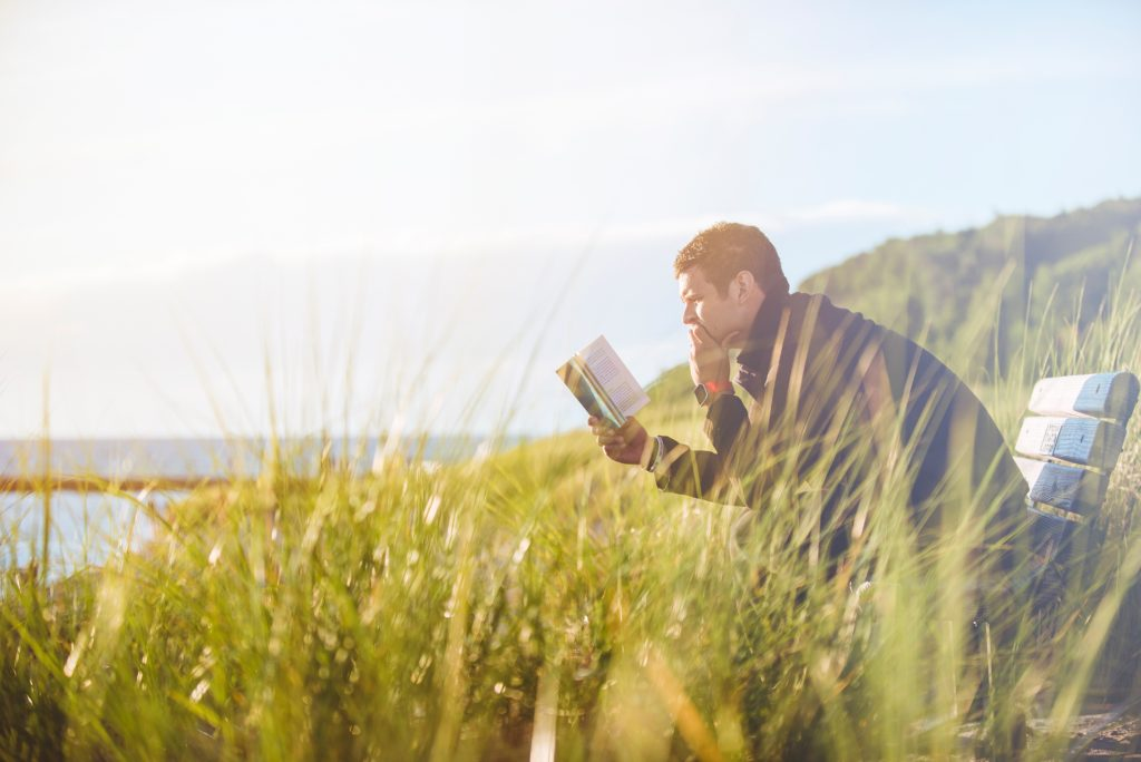 man reading - learning