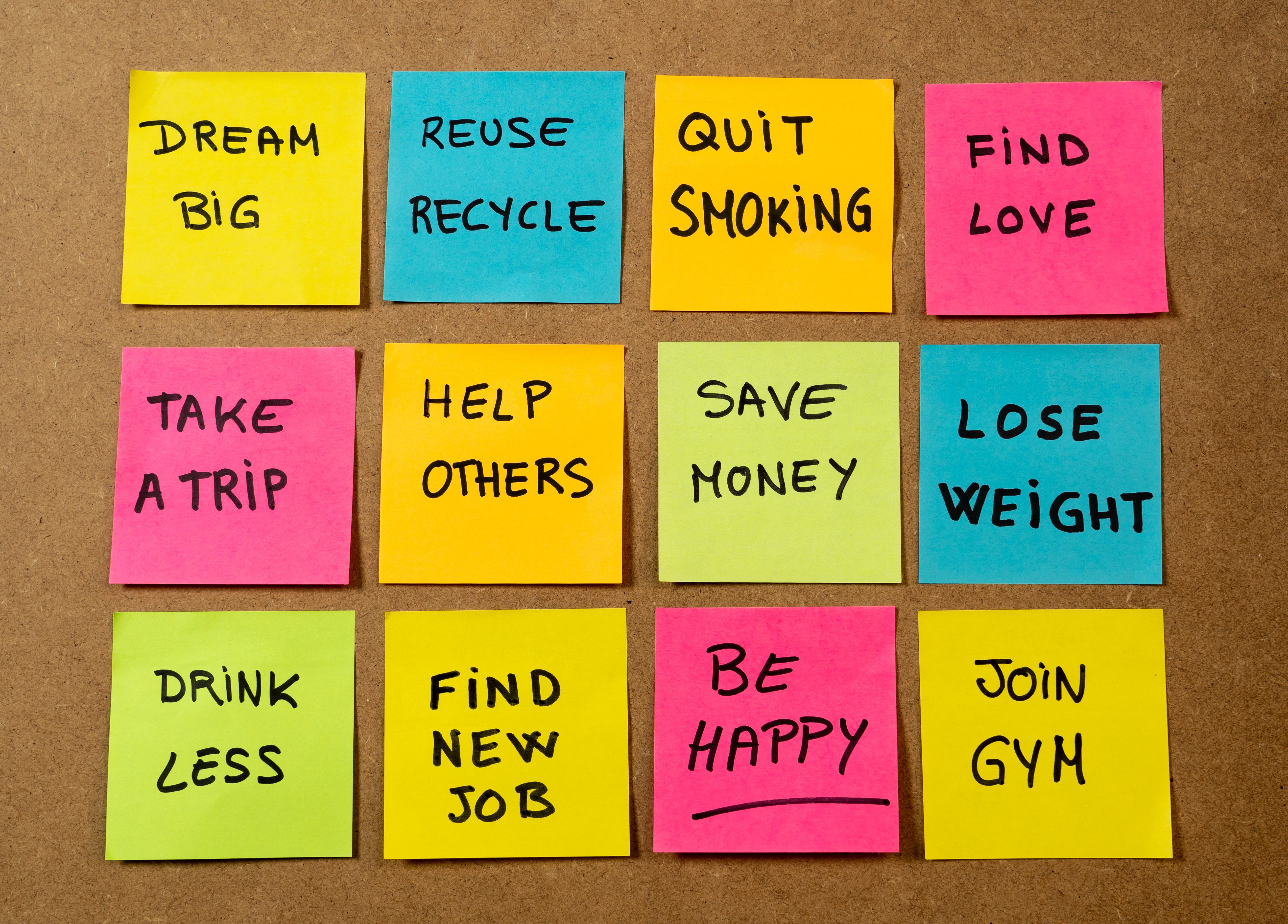 Post-its - leadership intentions 2019