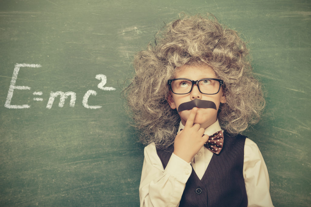 Young child dressed as Albert Einstein - even the best can suffer from Imposter Syndrome
