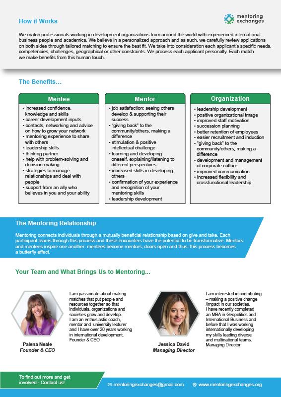 Mentoring Exchanges Brochure - 2