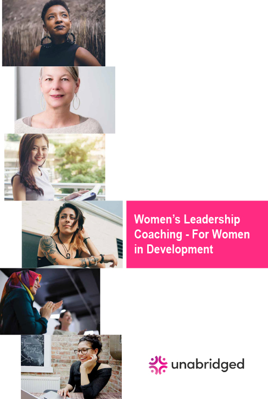 Women's Leadership Coaching For Women in Development Brochure 2019