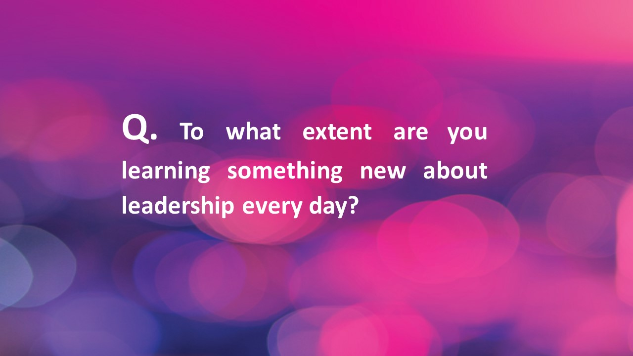 #Fridaycoachingquestion – leaders learning