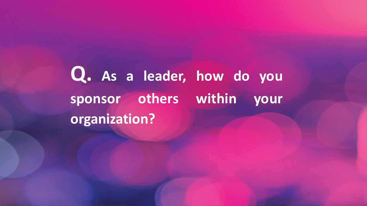 #Fridaycoachingquestion – sponsorship